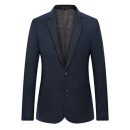 f9c0157b2d9 WAEOLSA Elegance Man Slim Fit Blazer Navy Blue Suit Coat Men Smart Casual  Blazers Masculino Uniform Tailored Blazer Mens Couture