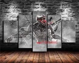pintura dormitorio principal Rebajas Venom Marvel Comics, 5 piezas de decoración para el hogar, pintura de arte moderno impresa en lienzo (sin marco / enmarcada)