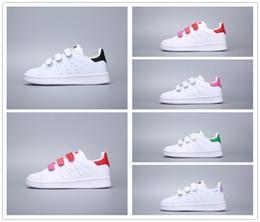 европейские кроссовки бренды Скидка Adidas Stan Smith Новый бренд Детская обувь весна спорт работает девушки мода кроссовки дети дышащий мальчиков обувь европейский размер обуви 24-35