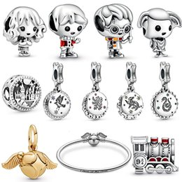 ladies charm bracelet Desconto 2019 Novo S925 Sterling Silver Harry Magic School. Trem. Dollhouse Elf. Encantos Beads Mascot pulseiras Lady Jóias Natal DIY presente