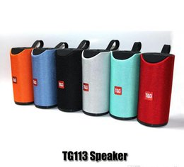 alto-falante bluetooth hy Desconto Speakers TG113 Bluetooth sem fio Subwoofers Handsfree Chamada Perfil Stereo Baixo Suporte TF USB 1200mAh Cartão AUX Line In Hi-Fi