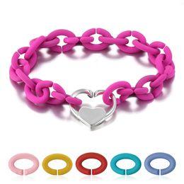 europäische kautschukperlen Rabatt Mode-harte Gummi-X-Armbänder 10 Farben 925 Sterlingsilber-Herz Perle für Frauen Schmuck im europäischen Stil Armband Männer Schmuck