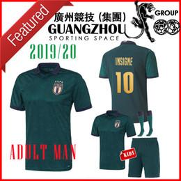 2020 italy renascimento terceiros afastado camisas de futebol 19 20 verde maglie da calcio Verratti Jorginho 2019 crianças kits Chiesa Italia criança camiseta de