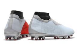 Обувь для мужчин онлайн-Boutique Men Вязаная FG / AG футбольные бутсы Открытый Зрение Колледж MG Shadow серии Футбол обувь Silver бутсы