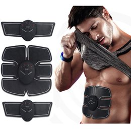Canada Électrique EMS Stimulateur Musculaire ABS Muscle Abdominal Toner Corps Remise En Forme Shaping Massage Patch Siliming Trainer Exerciser Unisexe cheap electric body shaping Offre