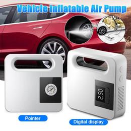 12 volt led leuchtet autos Rabatt Digital-Gummireifen-DC 12 Volt Auto-bewegliche Luftkompressorpumpe Auto Aire Pumpe für Auto-Motorrad-LED-Licht