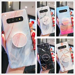 Мягкая крышка ТПУ кронштейн для телефона Держатель Стенд Мраморный чехол для iPhone XS Max Samsung Galaxy A50 S10 Plus Huawei P30 Pro P20 Lite от