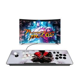 новые аркадные игры Скидка 2018 новый стиль 7S Pandora Box игровая консоль джойстик с 2167 забавными играми и двумя джойстиками для развлечения STY194