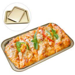 2019 einweg-kuchen dosen DIY Backenwerkzeuge Rechteckige Antihaft Brot Kuchen Backblech Große Lebensmittelqualität Edelstahl Backformen 33 * 23 * 2 cm DH0642