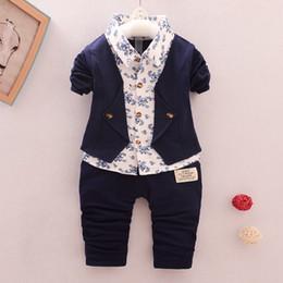 Bonne qualité Printemps Automne Enfants Garçons Vêtements Ensembles Enfants Garçons Gentleman Style Vêtements Habits Costume Pour Petit Enfant Garçon Tenues ? partir de fabricateur