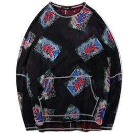 Рыболовные пуловеры онлайн-Рыбья кость 3d печати мода с длинным рукавом мужчины футболки 2019 весна новый дизайн топы тис карманный пуловер повседневная уличная