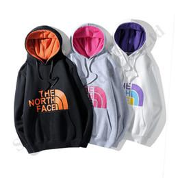 Camisetas hombre adolescente online-NF Marca Adolescentes suéter suéter El Norte Mujeres Hombres con capucha sudaderas con capucha de la cara esquilado largo de la manga de la camiseta de Hip Hop blusa de la camiseta de C120904