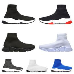 2019 plaques plates noires en gros Chaussures de sport de marque de marque de luxe formateur luxe noir blanc rouge scintillant bleu chaussettes plates bottes baskets formateurs taille 36-45 coureur promotion plaques plates noires en gros
