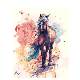 oil painting dream Coupons - Painter Dream: DIY Oil Painting By Numbers Animal theme 1 3 50*40CM 20*16Inch On Canvas Mural For Home Decoration [Unframed]