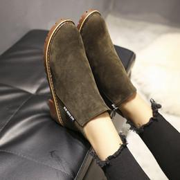 stivali da college Sconti Autunno e Inverno 2019 New coreano edizione Martin stivali GirlsSide Zipper Scarpe Ragazze Lowheeled e Lowbarrel studente di college Boots