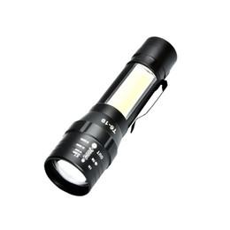 2020 lanterna brilhante BRELONG lanterna de luz lado COB LED luz forte recarregável super brilhante lanterna pequena ao ar livre de emergência iluminação 1 pc lanterna brilhante barato