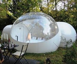 2019 baby pop up tende 3M di campeggio esterna gonfiabile Bubble tenda grande fai da te Casa della Camera di Backyard Camping Cabin Lodge Air Bubble tenda trasparente