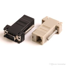 2019 adaptador hdmi de entrada vga ZJT40 15PIN VGA a conector RJ45 Nuevo VGA Extender Macho a Lan Cat5 Cat5e RJ45 Ethernet Adaptador hembra 100 unids
