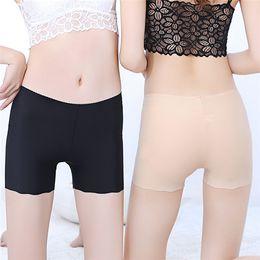 nádegas de silicone hip Desconto Mulheres Pants cor sólida três pontos Bottoming Segurança Ice Silk Seamless Fit