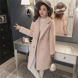 Moda kadın yeni ince artı pamuklu ceket yün ceket öğrenciler kalınlaşma uzun bölüm yün kadın düz ceket bayanlar supplier cotton fashion coats for ladies nereden bayanlar için pamuk moda katları tedarikçiler