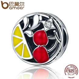 toptan Özgün Tasarım 925 Gümüş Meyveler Juicy Kırmızı Kiraz CZ Boncuk Charm Bilezik Bileklik DIY Takı Hediye SCC146 sığacak nereden