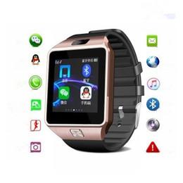 orologio intelligente per la mela Sconti Orologi intelligenti della carta di TF della carta SIM di sostegno di SmartWatch Bluetooth dell'orologio DZ09 con la macchina fotografica Anti-perso per l'iPhone DZ09-1 di iPhone