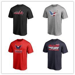 2020 smart logos 18 19 Männer Washington Capitals Marke Hockey Trikots Schwarz Rot Grau Designer Smart Sport Fans Tops Tees Shirts Kostenloser Versand gedruckt Logos rabatt smart logos
