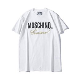 swing uomini Sconti 19ss Summer New Moschin O Tee in cotone manica corta da uomo traspirante t shirt Moschinos Swing Bear casual streetwear all'aperto t-shirt 870