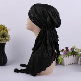 Bonés muçulmanos dubai on-line-Abaya Dubai Islam Arábia Saudita Hijab Caps Abayas Para As Mulheres Muçulmano Turbante Hijabs Turbante Mujer Bonnet Cachecol Lenço Underscarf