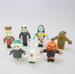 Figura de ação do jaque on-line-Melhor presente 7 pcs 1 conjunto O Pesadelo Antes do Natal Figura de Ação Brinquedos Jack Skellington Figura de Ação Boneca de Brinquedo Para Casa Carro Deco