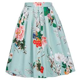 юбки для девочек-пачек Скидка Сексуальная летняя свободная женская цветочная юбка 2019 Новый стиль ретро Повседневная юбка-пачка Пояс с принтом по бокам
