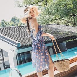 Stahl-bikini-stil online-Bikini Stahlhalterung Hot Spring Badeanzug Bedeckt Belly Show Verbunden Dünne Weibliche Drei Stück Koreanischen Stil Badeanzug