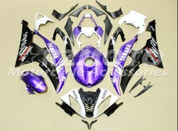 grün 1998 zx7r Rabatt 3 Geschenke Neue ABS Vollverkleidungssätze passend für YAMAHA YZF-R6 08-16 Baujahr YZF600 2008 2009 2010 2011 2015 R6 Karosseriesatz Custom Cool Purple White