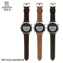 2019 быстрый ремень 3 colors 22mm Genuine leather strap replacement watch band Quick release for Garmin Fenix Chronos L3FE дешево быстрый ремень