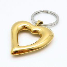Novos porta-chaves chegadas Moda, encantos do coração partido jóias de ouro Sun qualidade de aço inoxidável da corrente chave de