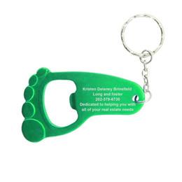 Deutschland 200 stücke Personalisieren Baby Fuß Keychain Flaschenöffner Nette Fuß Schlüsselanhänger Für Baby Shower Taufe Hochzeitsgeschenk 1. Geburtstag Favor Versorgung