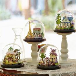 Miniatura diy per i bambini online-Fai da te Modello in miniatura con mobili Modelli in legno 3D Abito da sposa Party Toy For Kid Alta qualità 31k D1