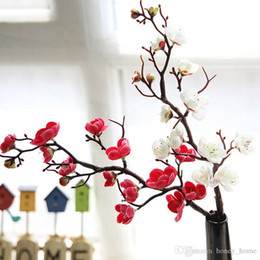Canada Fleurs En Soie Artificielle Japon Fleurs De Cerisier Prune Faux Fleurs flores Sakura Branches D'arbres De Mariage Maison Décoration Chambre supplier cherry tree wedding decorations Offre