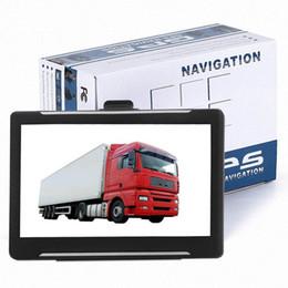 camiones gps Rebajas 7 pulgadas Car Truck Navegación GPS MTK SAT NAV Sistema de navegación GPS Capacitancia Pantalla táctil Incorporado 256MB 8GB Últimas UE EE. UU. UA Mapas T600