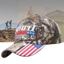 свободные флаги для вышивания Скидка Трамп шляпа камуфляжная крышка флаг США бейсболка 2020 шляпа 3D вышивка Звезда письмо камуфляж регулируемая бесплатно FEDEX TNT