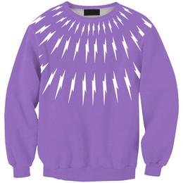 Lavendel hoodie online-Frauen Sweatshirt Lavendel Kleine Flash 3D Voll Gedruckt Mädchen Freie Größe Stretchy Beiläufige Hoodies Dame Lange Ärmel Tops Sweatshirts (RSws0099)