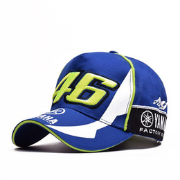 motorcycle goods Coupons - Good Design MOTO GP 46 Motorcycle 3D Embroidered F1 Racing Cap Men Women Snapback Caps Rossi VR46 Baseball Cap YAMAHA Hats