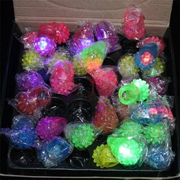 bubble lights free shipping Coupons - New Arrival LED Ring Light Flash Mitts Cool Led Up Flashing Bubble Rave Party Blinking Soft Jelly Glow Free Ship