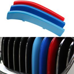 Freies verschiffen 3 Teile / satz Kühlergrill Abdeckung Dekoration Zierstreifen Für BMW 5 Serie F10 2014-2017 Auto Styling von Fabrikanten