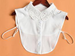 colares peter pan Desconto Colar Gargantilha forma destacável Peter Pan Mulheres lapela camisa falsificação falso Collar