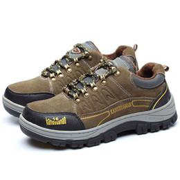 b57f88888622 Tamanho grande moda masculina biqueira de aço tampas de trabalho sapatos de  segurança inverno quente de pelúcia sapato de segurança botas de  ferramentas de ...