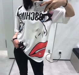 2ceb2f311a1ead MOS Luxus Marke Designer T-shirt Cartoon Bär Gedruckt Sommer Männer Frauen  Skateboard Straße Kurze Ärmel Lässig Einfache Weiß schöne T-stück