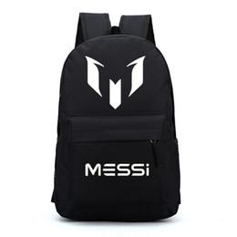 2019 bolsa de laptop de couro rosa Messi mochilas mochilas estrela de futebol para crianças crianças mochila bag para adolescentes meninos meninas escola sacos vermelho