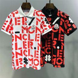 ropa de polo Rebajas MONCLE 2019 Summer New Arrival Tees de calidad superior Diseñador de ropa Polos M Imprimir camisetas M-3XL 6929