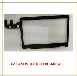 a1398 mela Sconti Spedizione gratuita originale per Asus Touch Screen Digitizer Vetro Cornice Bezel 5590R FPC-6 per UX360C UX360CA